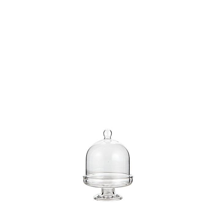 Mini mini plat gateau sur pied en verre cloche