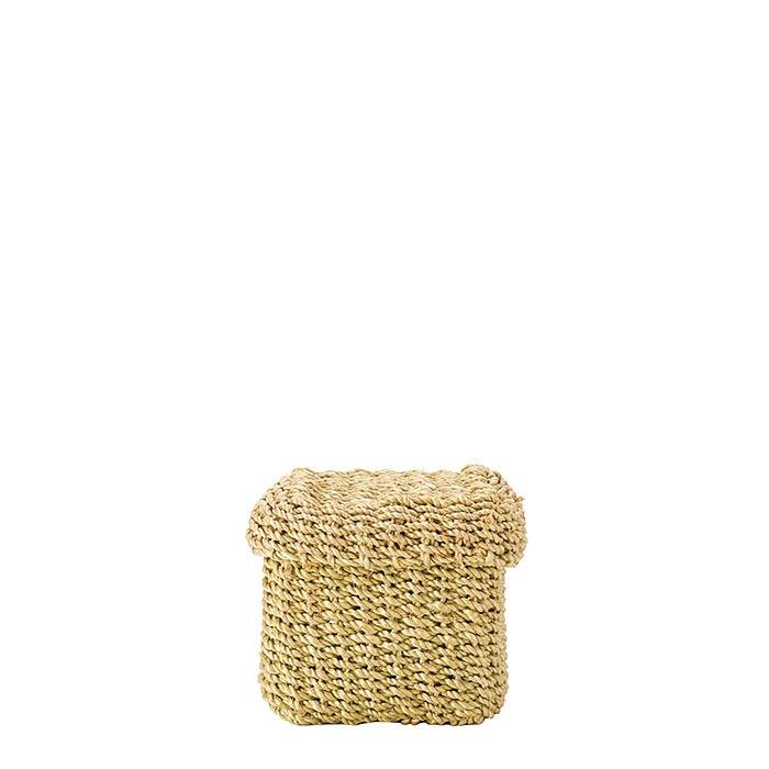 Cube green lime box 8 x 8 h8 cm