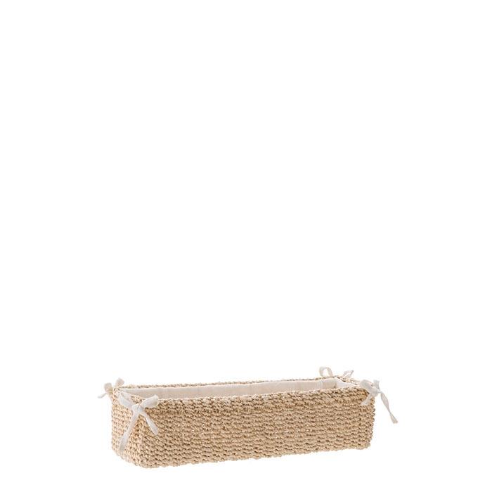 Panier pour confitures en abaca couleur creme 6 x 26 h5 cm