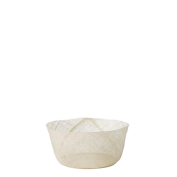 Simple white net bowl d15 h7 cm