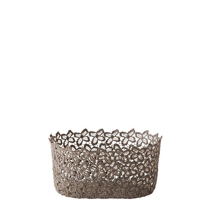 Oval lace bowl hazel color 12 x 19 h9 cm