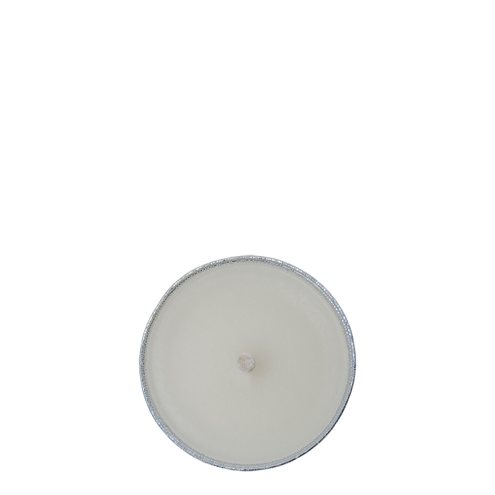 White candle aluminium plate for outdoor use d16.5 cm