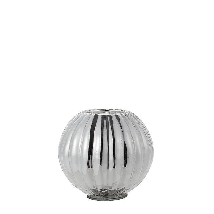 Tealight holder sphere silver color d9 cm