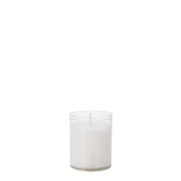 Pack of 3 tealight candles 24 hours in a glass d5 h6.5 cm
