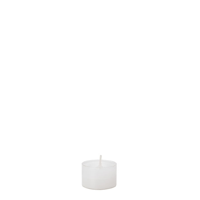 Pack of 50 white tealight candles 8 hours d3.8 h2.5 cm
