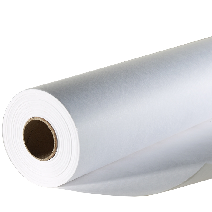 White smooth paper roll 50m x 80cm