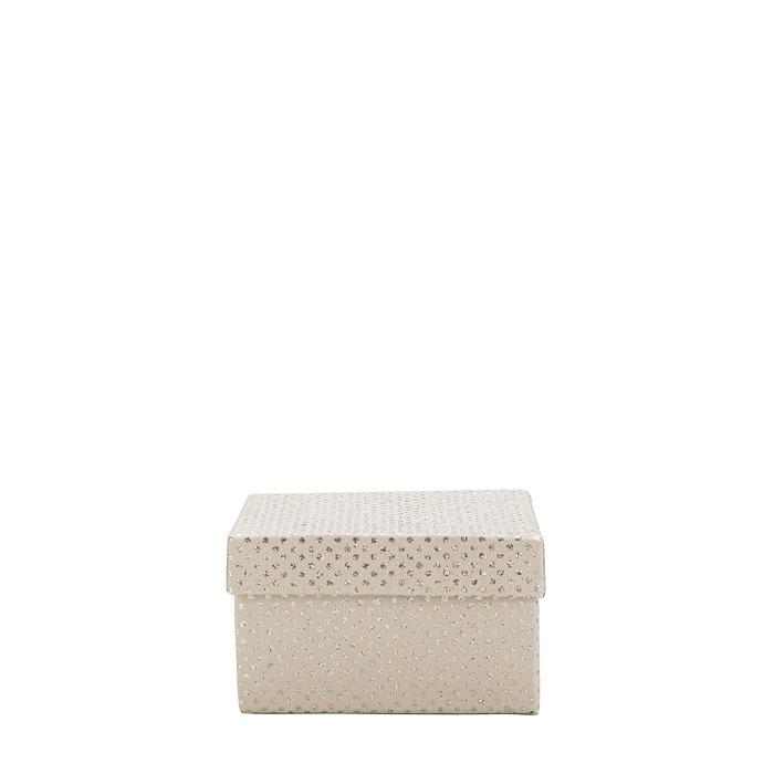 Glitter paper box linen color 10 x 10 h6 cm