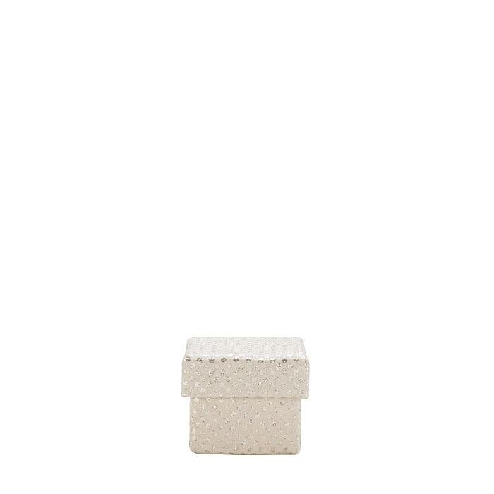 Glitter paper box linen color 5 x 5 h5cm
