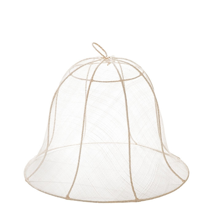 White bell food cover in abaca net d40 h30 cm