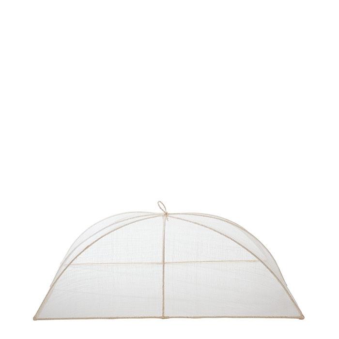 Medium white food cover in abaca net