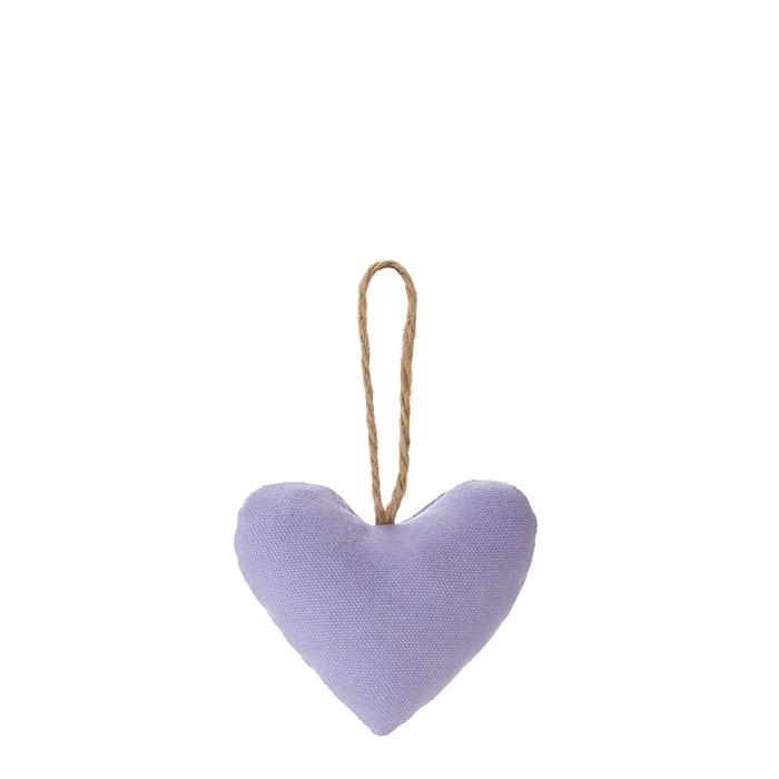 Cuore cotone colore lilla h9 cm