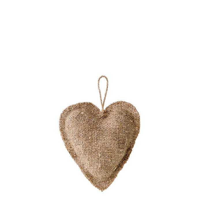 Cuore 100% lino grezzo02 colore naturale h10 cm