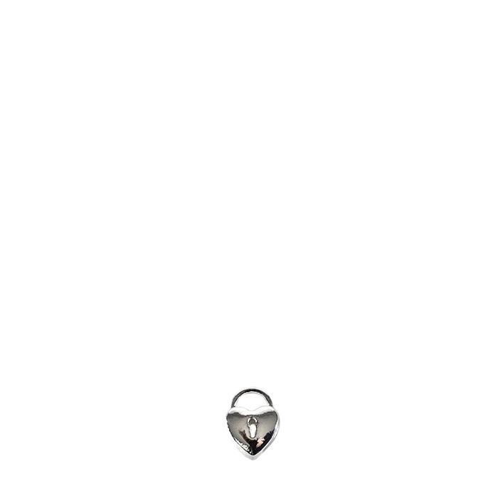 Confezione 12 mini cuore in metallo con lucchetto h1.5 cm