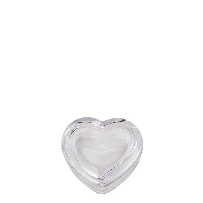 Scatola a forma di cuore in vetro 8 cm