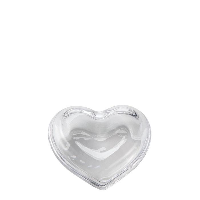 Scatola a forma di cuore in vetro 11 cm
