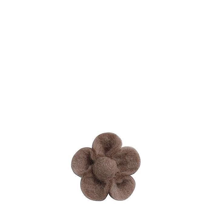Fleur en feutre couleur lin d6 cm