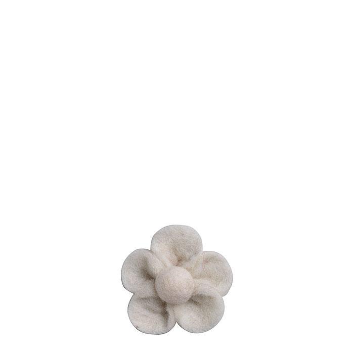 Felt flower cream color d6 cm