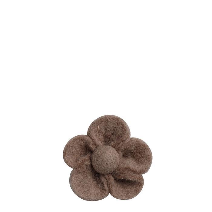 Felt flower linen color d9 cm
