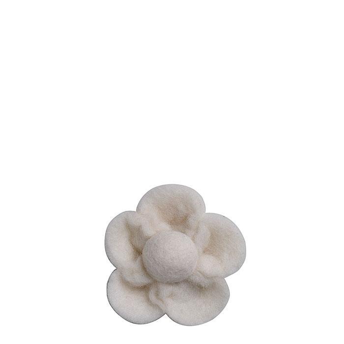 Felt flower cream color d9 cm