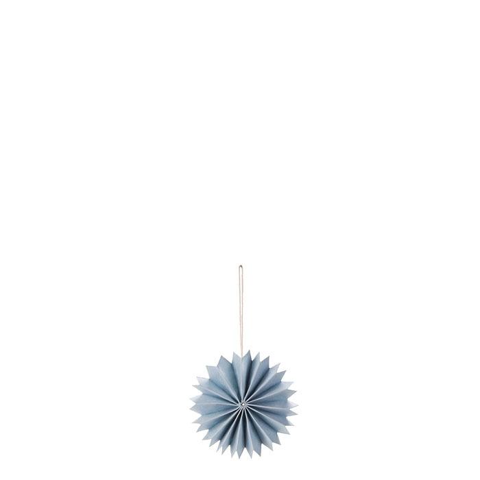 Pack of 3 paper plisse decorations light blue color d9 cm