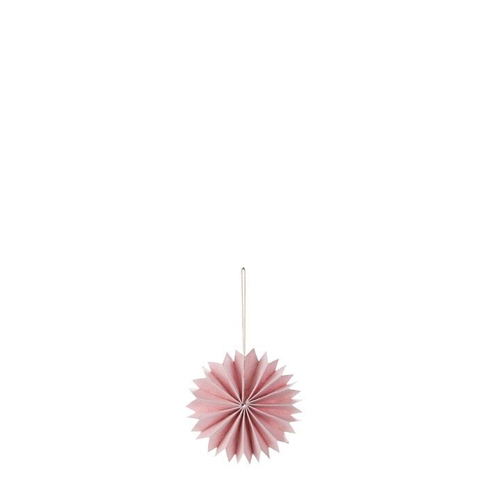 Paquet de 3 decors plisse en papier couleur rose d9 cm