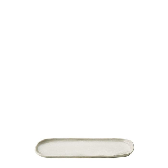 Vassoio ovale in gres 12 x 31 cm