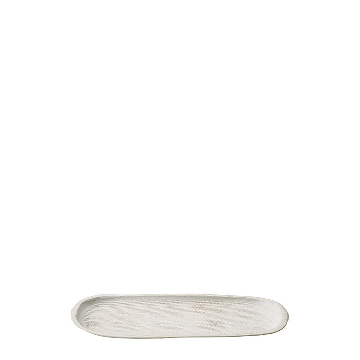 Vassoio ovale in gres texture 12 x 31 cm