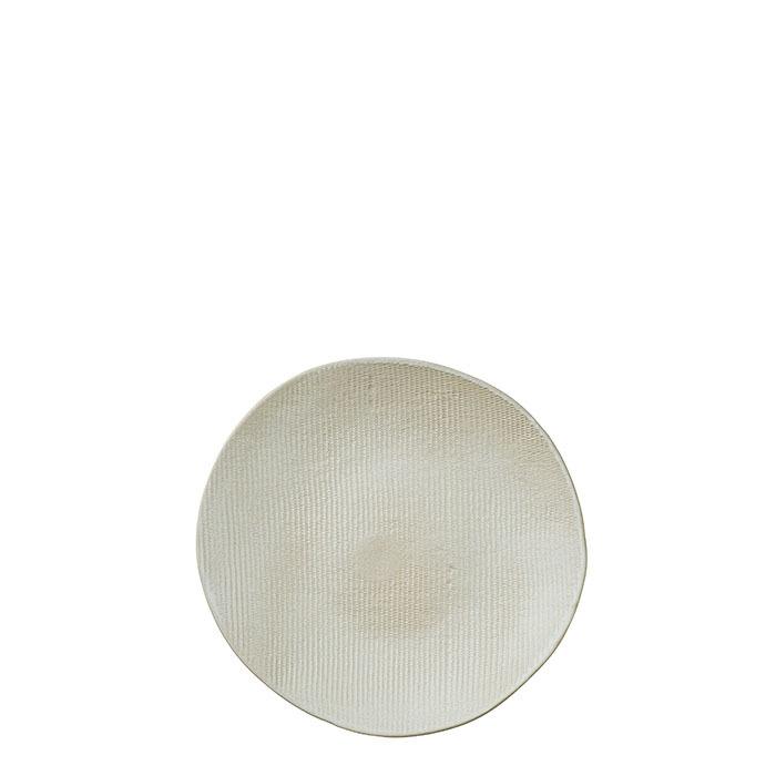 Piatto piano in gres texture d25 cm