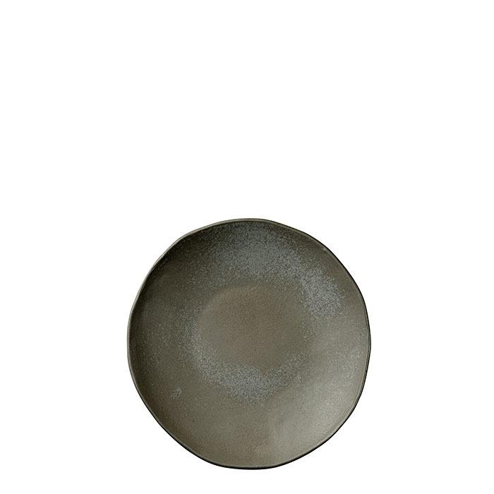 Piatto piano in gres nero d25 cm