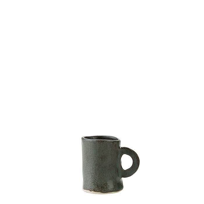 Tazza da caffe' cilindrica in gres nero d5 h7 cm
