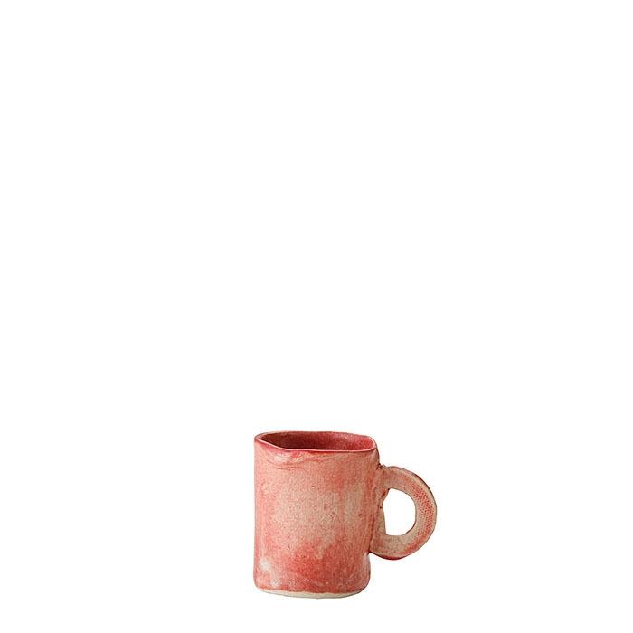 Tazza da caffe' cilindrica in gres aragosta d5 h7 cm