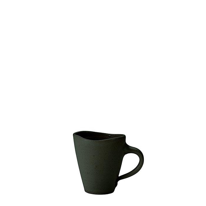 Tazza da caffe' in gres nero h8 cm