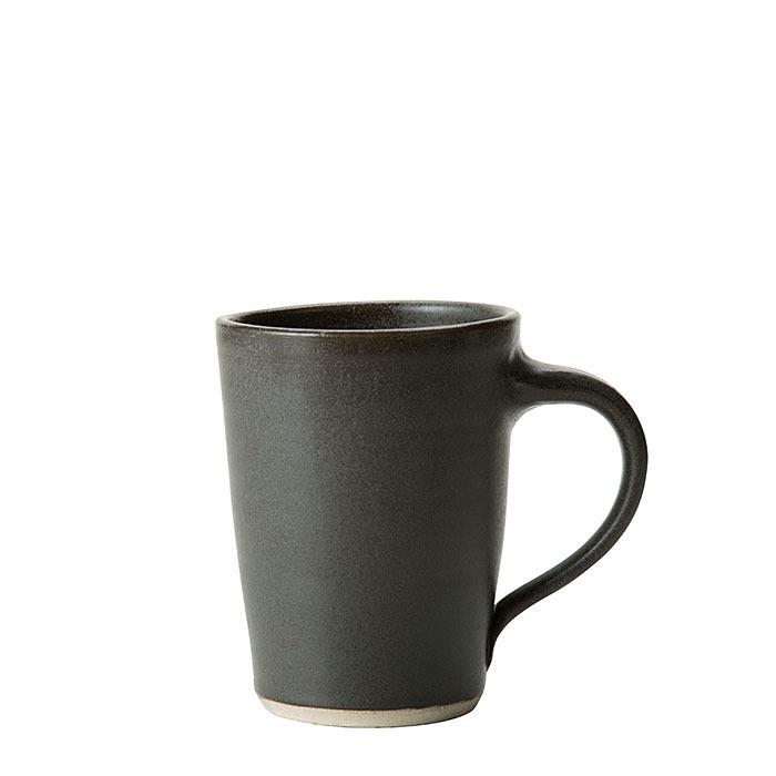 Tazzona in gres nero d9.5 h13.5 cm