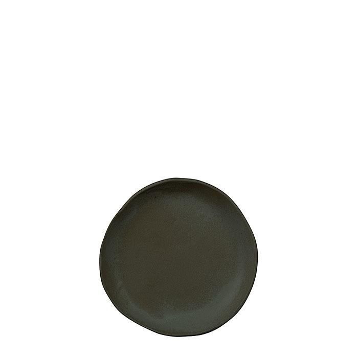 Petite assiette noire pour pain gres d16 cm