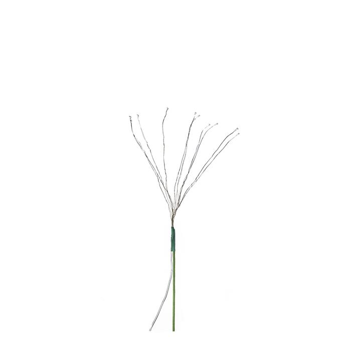 Ramo di 10 luci per bouquet con batteria (acqua) h40 cm
