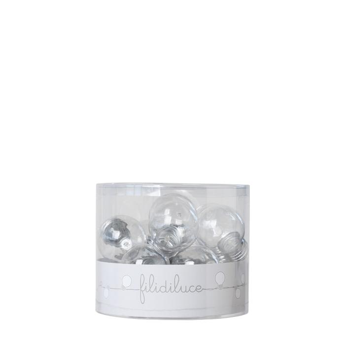 Filo 11 lampadine plastica con batteria 250 cm