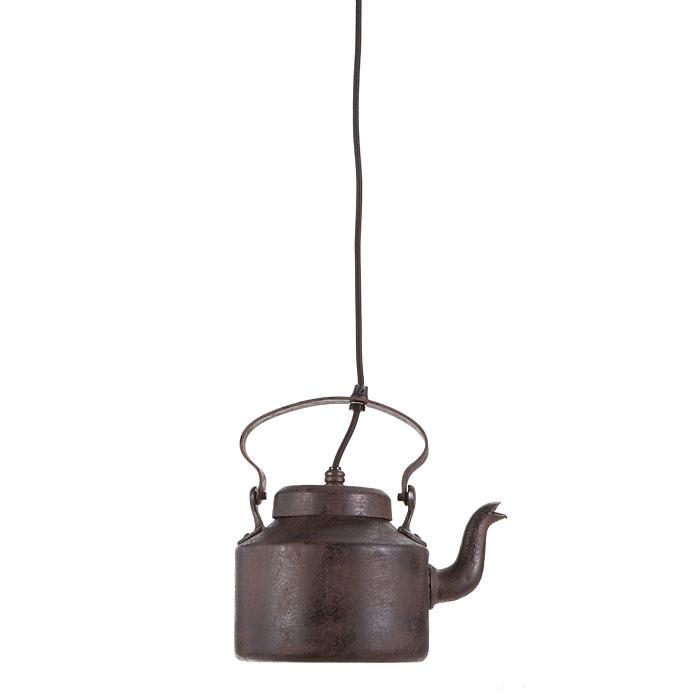 Lampada bollitore in metallo scuro 18 x 26 h26 cm