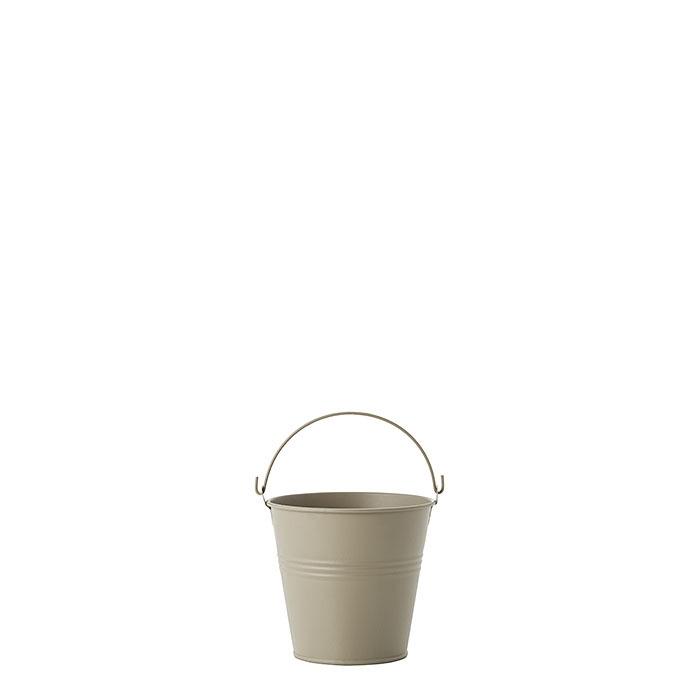 Secchio in metallo waterproof colore lino d11 h10 cm