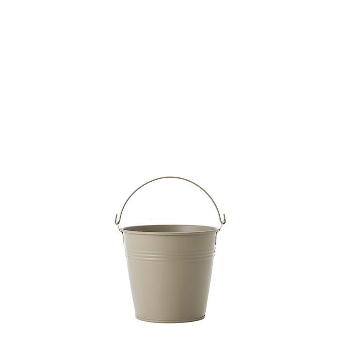 Secchio in metallo waterproof colore lino d13.5 h12 cm