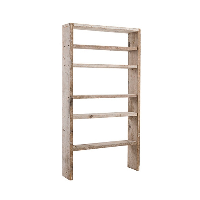 etagere en bois brut avec 6 compartiments 100 x 24 h185 cm. Black Bedroom Furniture Sets. Home Design Ideas