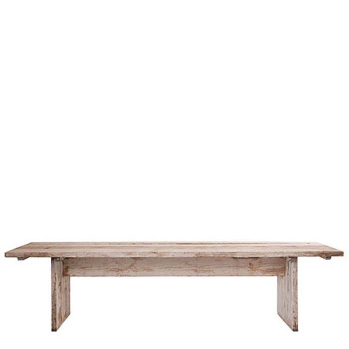 Table en bois brut 90 x 300 h74 cm