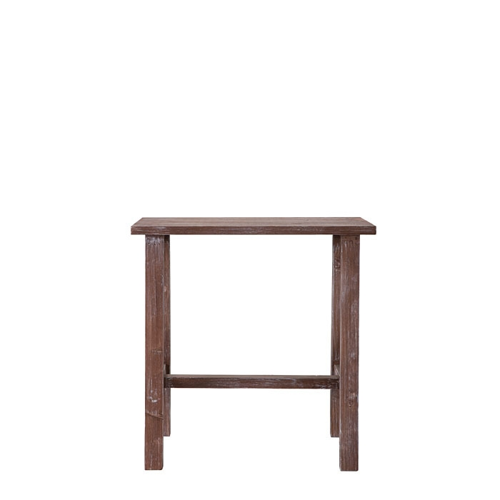 Small brown bistrot wooden table 27.5 x 55 h56 cm