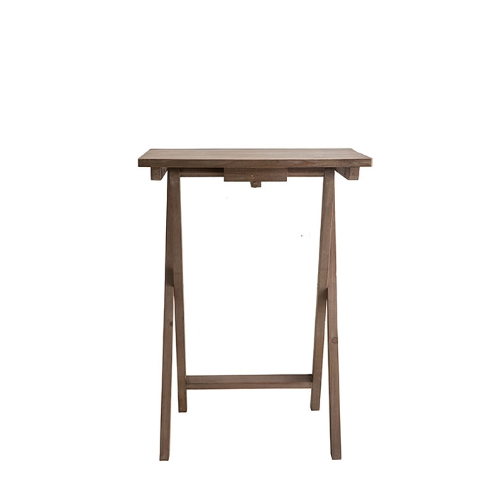 Small bistrot wooden folding table 36 x 48 h62 cm