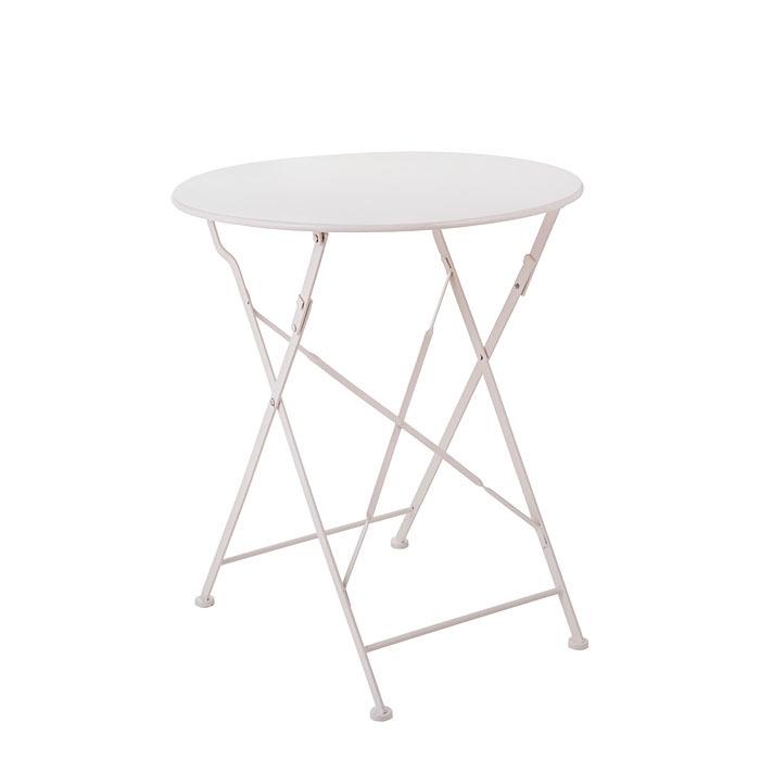 Tavolo jardin richiudibile in ferro colore bianco d59.5 h70 cm