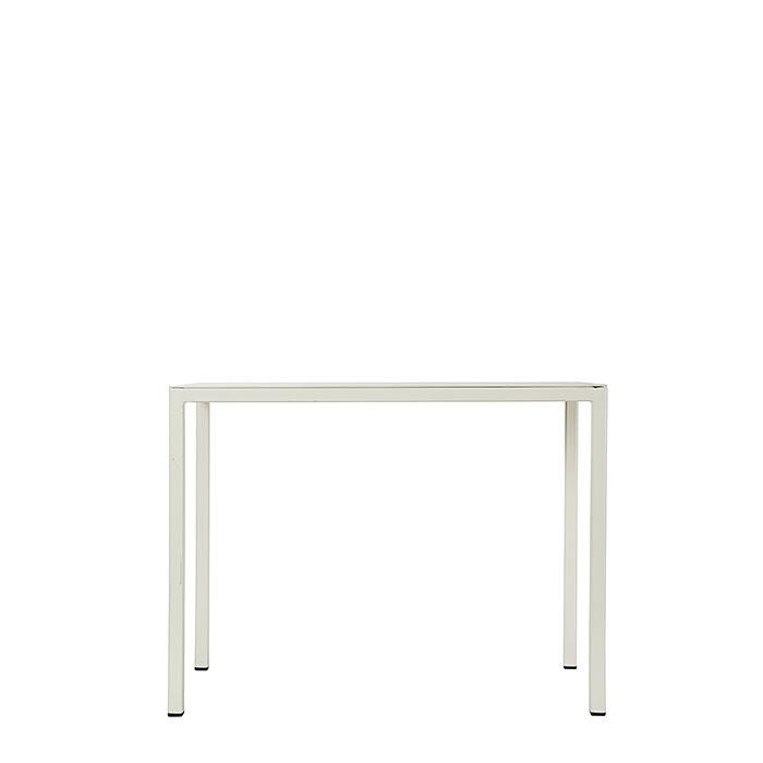 Tavolino lineare in ferro colore crema 60 x 30 h45 cm