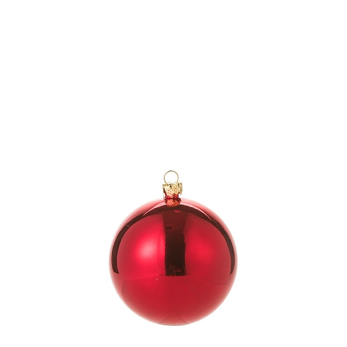 Red christmas ball sphere d7 cm