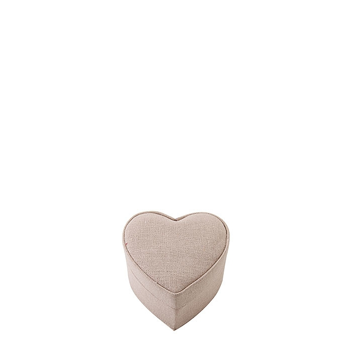 Linen colour heart box 9.5 x 9.5 h6 cm