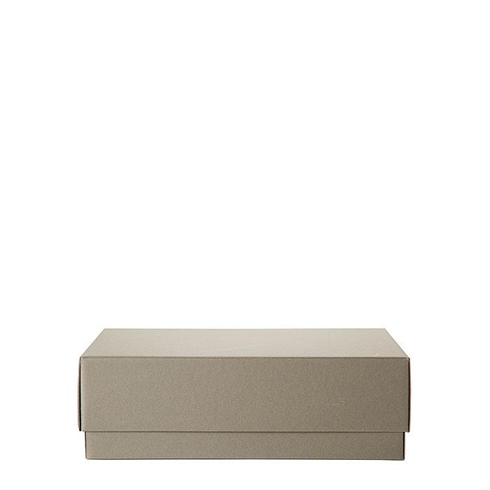 Scatola di carta con coperchio colore tortora 31 x 44 h14 cm