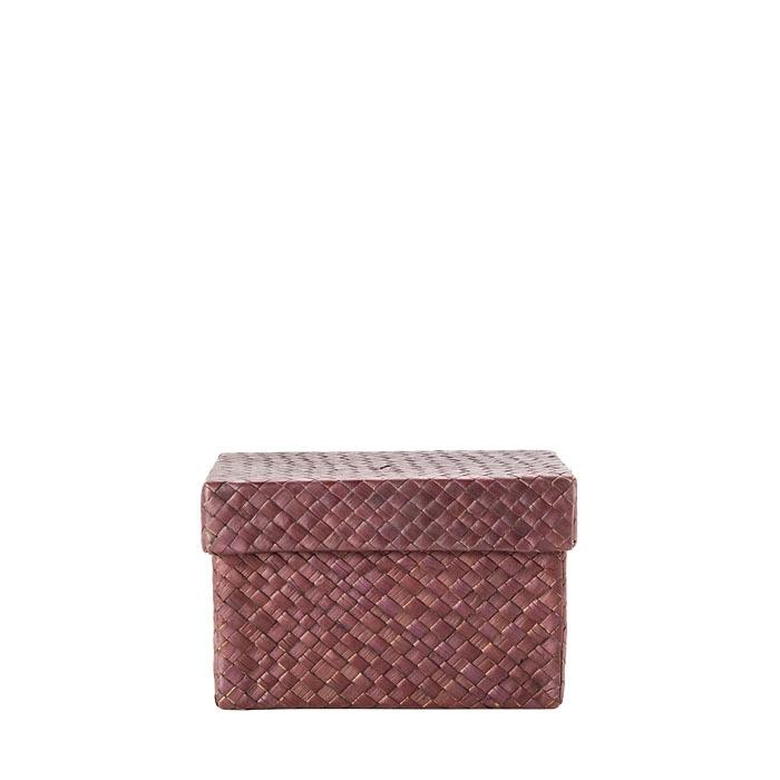 Brown net paper box 9 x 16 h9.5 cm