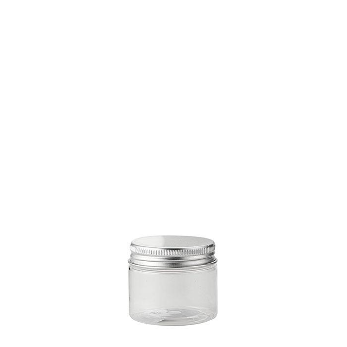 Confezione 12 barattoli pet trasparenti alimenti d5 h4 cm
